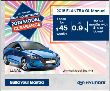 Final Countdown Clearance 2018 Elantra GL Manual