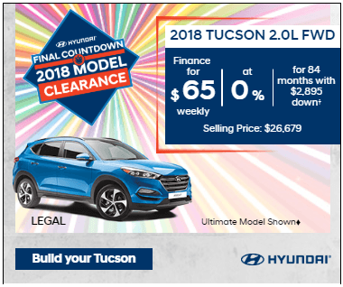 Final Countdown Clearance 2018 Tucson 2.0L FWD